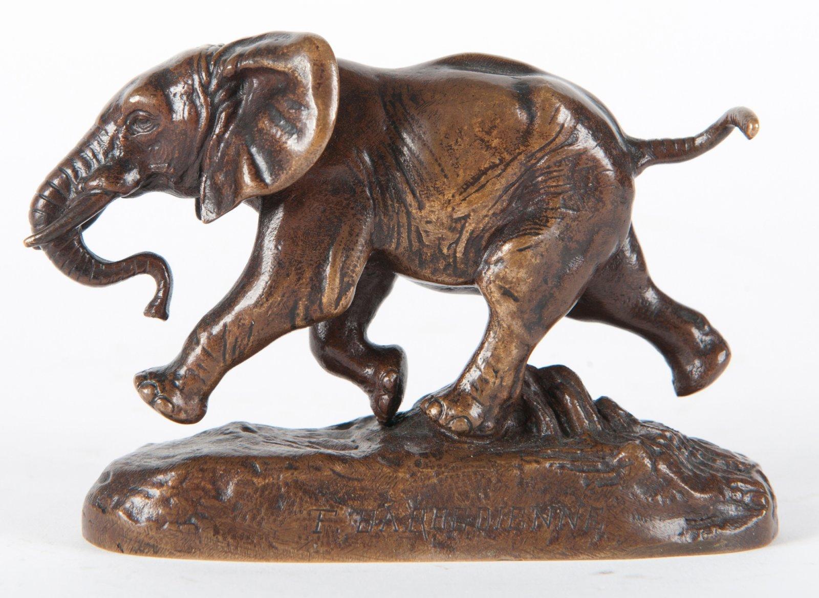 Barye bronze éléphant du Sénégal Colcombet