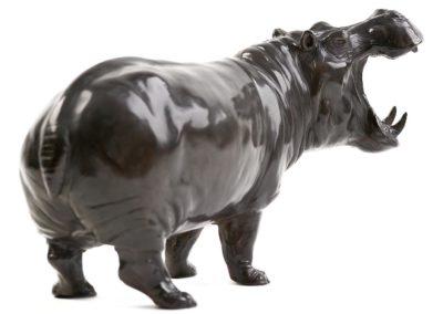 Hippopotame gueule ouverte - Vue 01