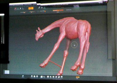 La numérisation en 3D du modèle en terre