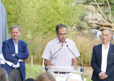 La cérémonie d'inauguration au parc de la Tête d'Or