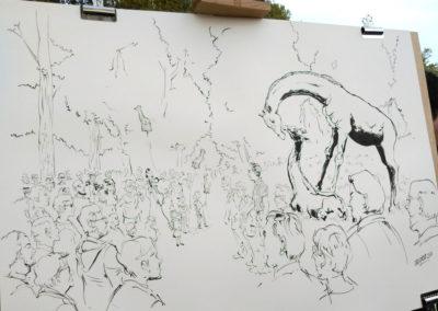 Une belle illustration de l'inauguration par le dessinateur Gregdizer