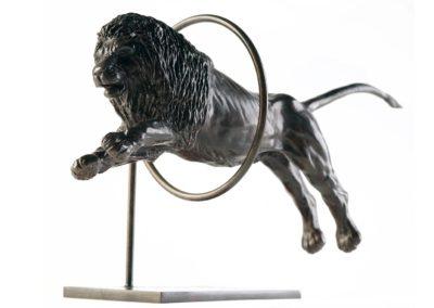 Lion sautant dans un cerceau - Vue 01