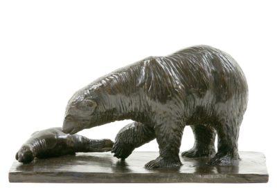 Ours blanc et phoque - Vue 01