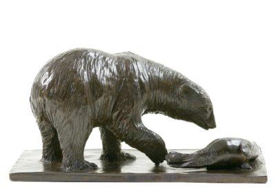 Ours blanc et phoque - Vue 02