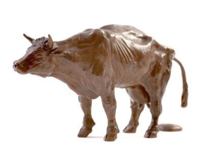 La vache dans l'effort