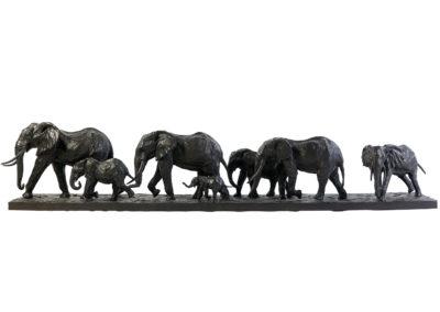 Les-éléphants-d'Afrique-en-marche-vue-01