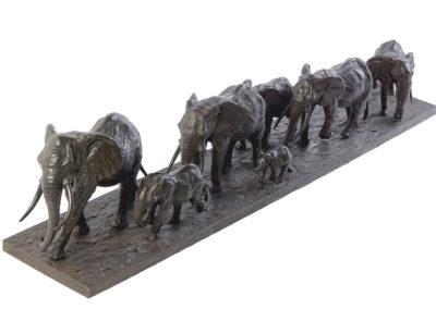 Les-éléphants-d'Afrique-en-marche-vue-02