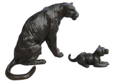Panthère et son petit