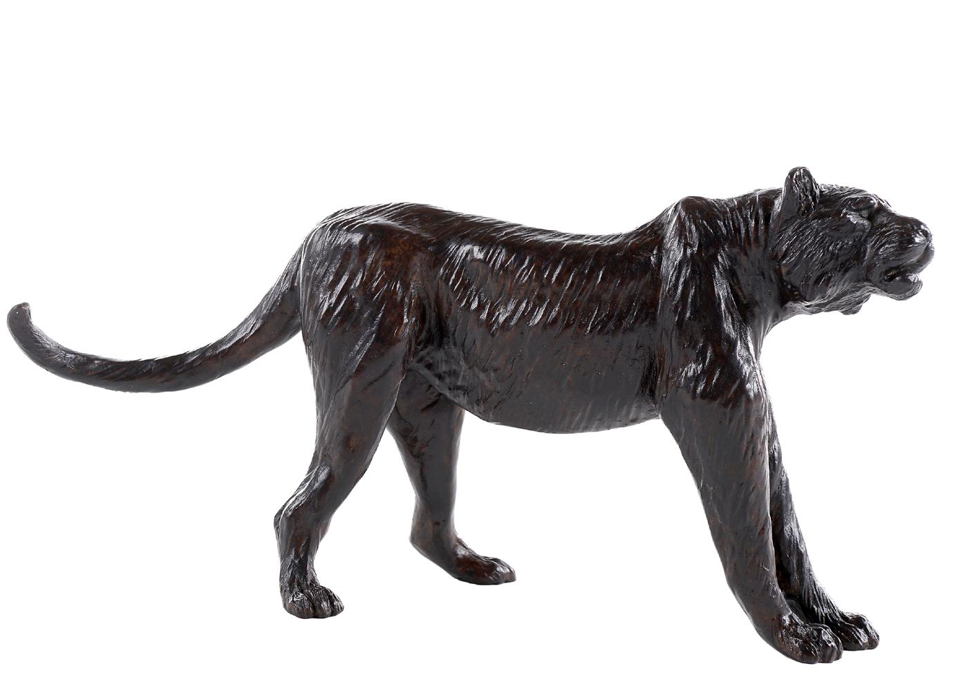 Bronze Colcombet Tigre en alerte