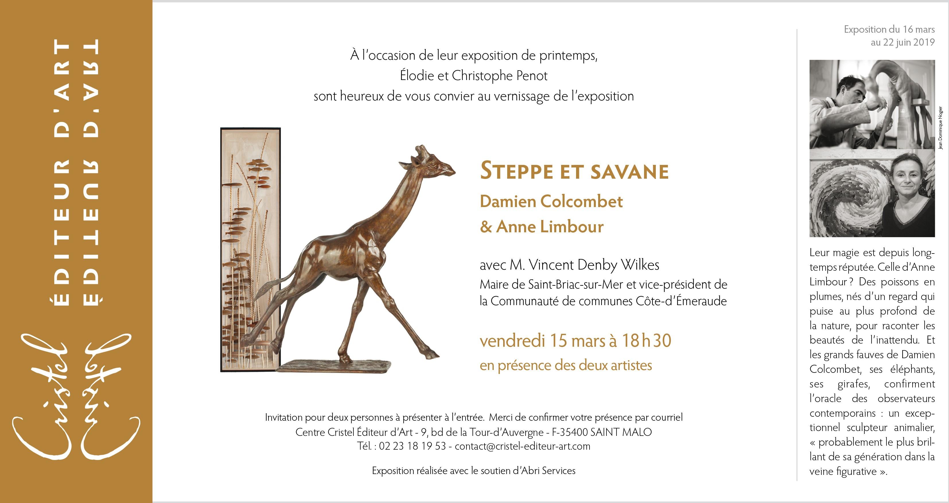 Invitation exposition Colcombet Limbour Saint-Malo Cristel