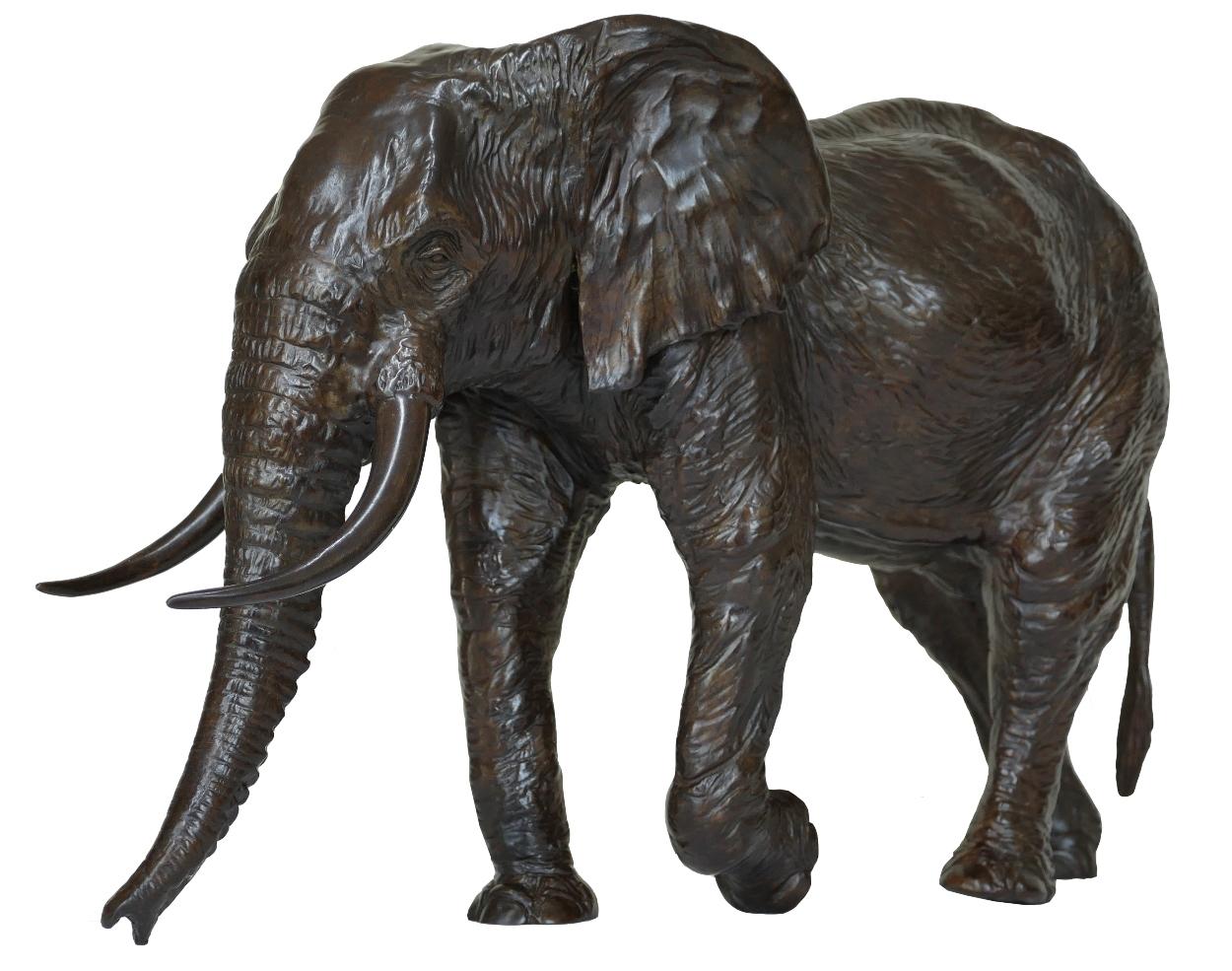 Sculpture bronze Colcombet éléphant d'Afrique