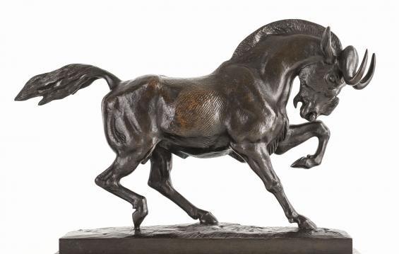 Bronze gnou Barye