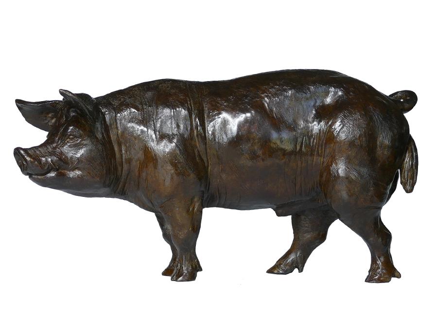 Bronze Colcombet verrat cochon
