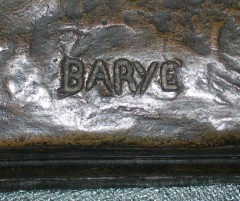 Bronze ancien Barye Colcombet