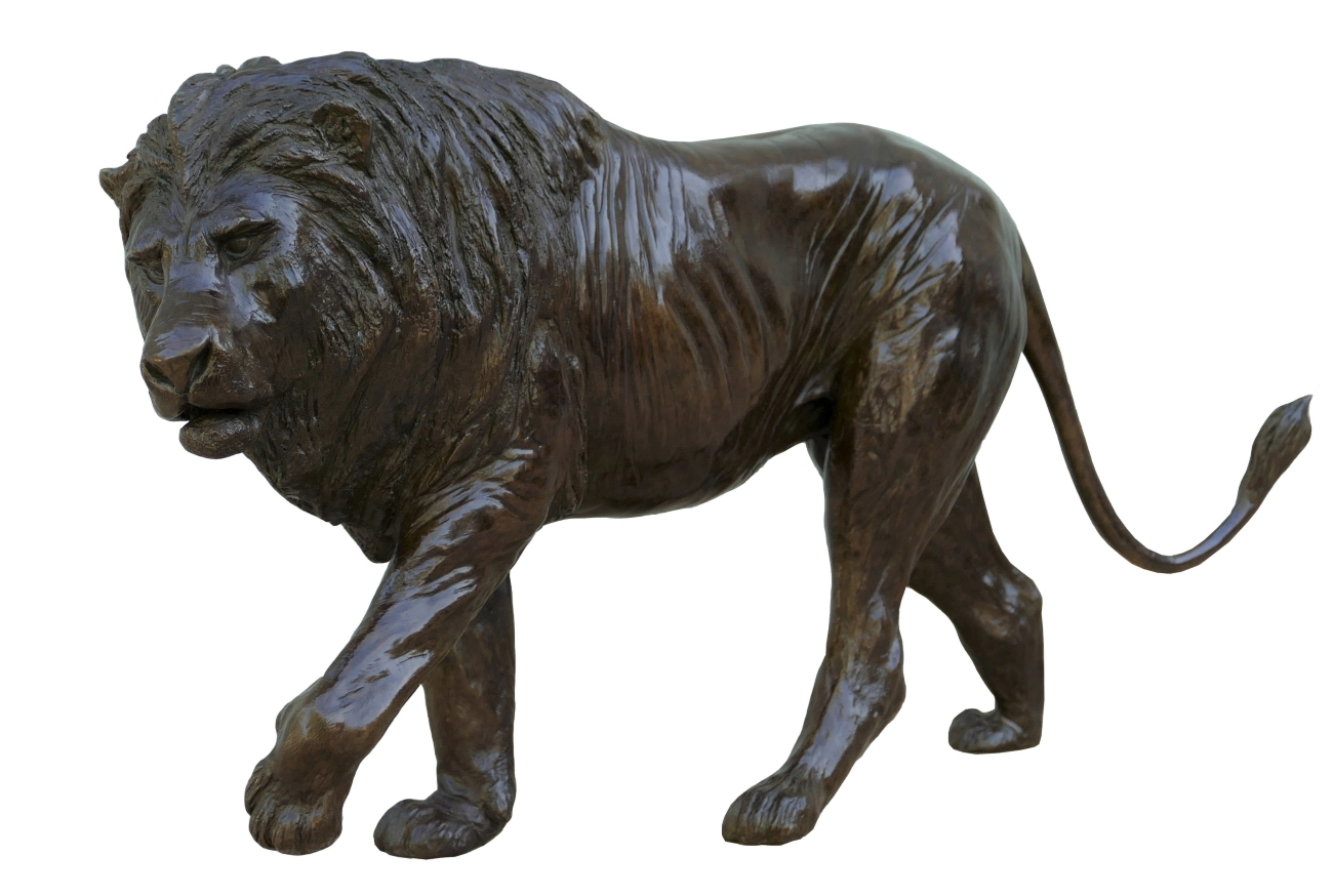 Bronze Colcombet lion marchant
