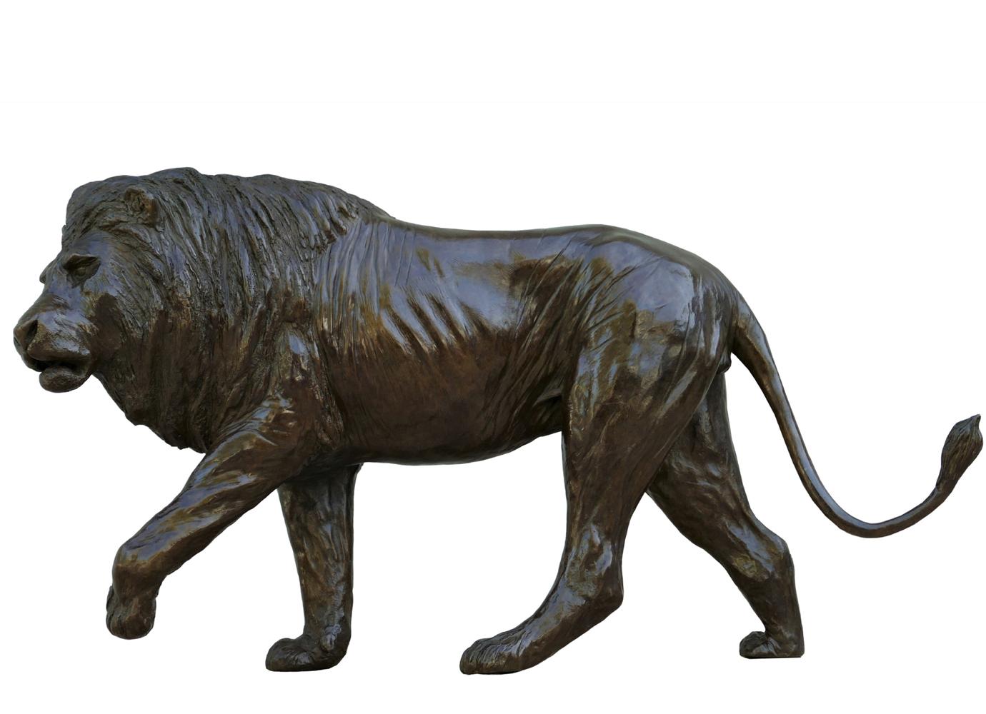Bronze Colcombet lion marchant