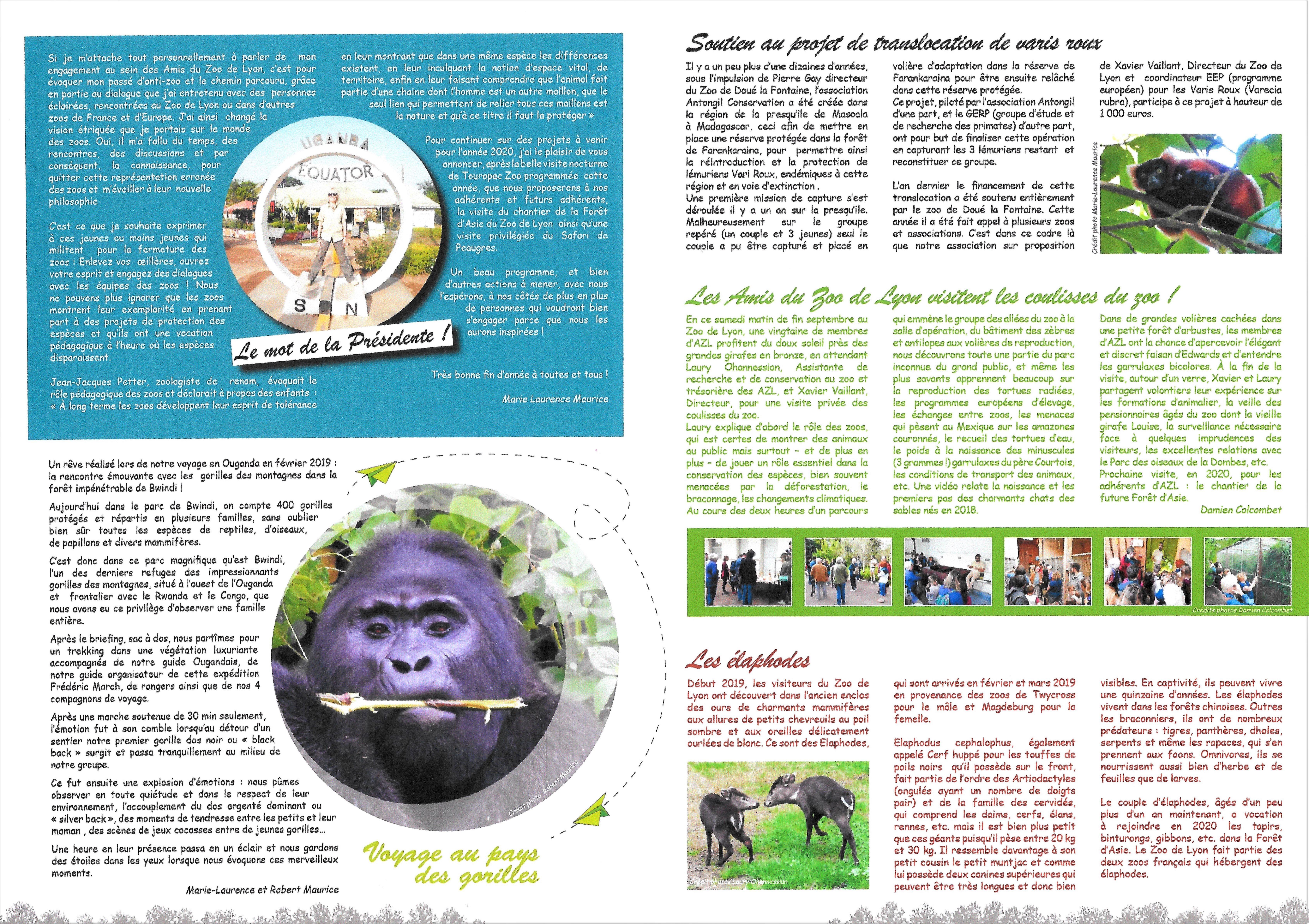 Amis Zoo de Lyon Gazette n°7