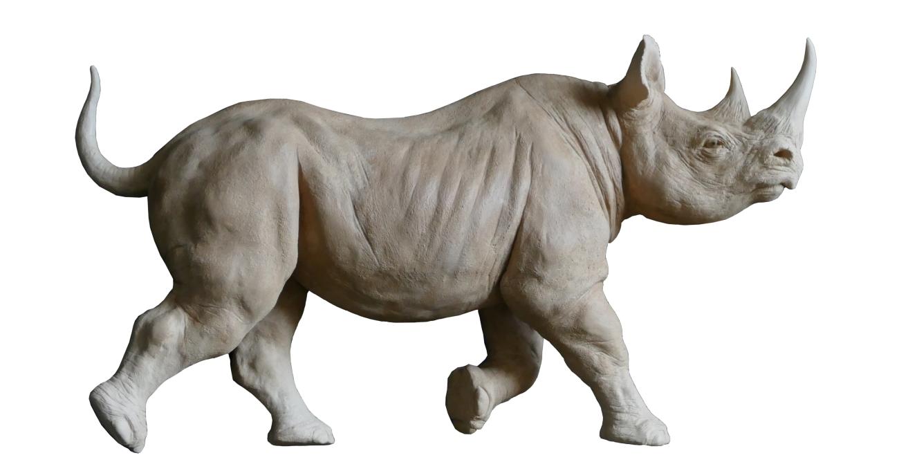 Bronze sculpture Colcombet rhinocéros noir