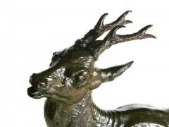 Sculpture Colcombet bronze chevreuil Masson