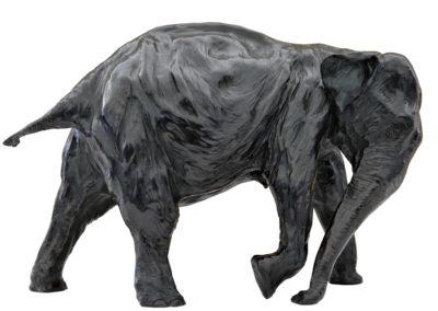 Eléphante d'Asie trompe basse