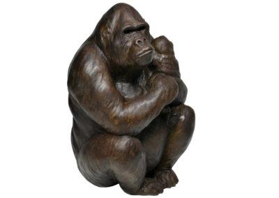 Gorille-femelle-portant-son-petit-vue-01