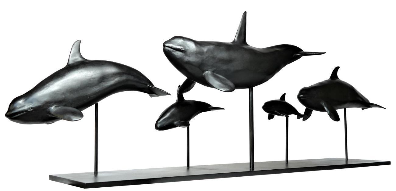 Bronze Colcombet orques épaulards