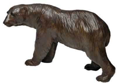 Ours polaire tête tournée à gauche
