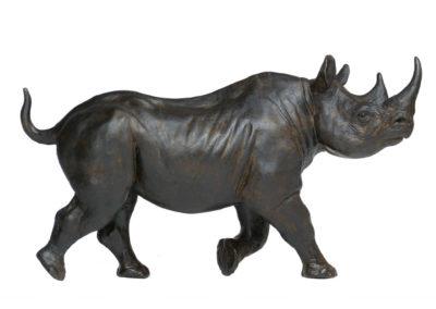 Rhinocéros noir femelle au trot – Réduction